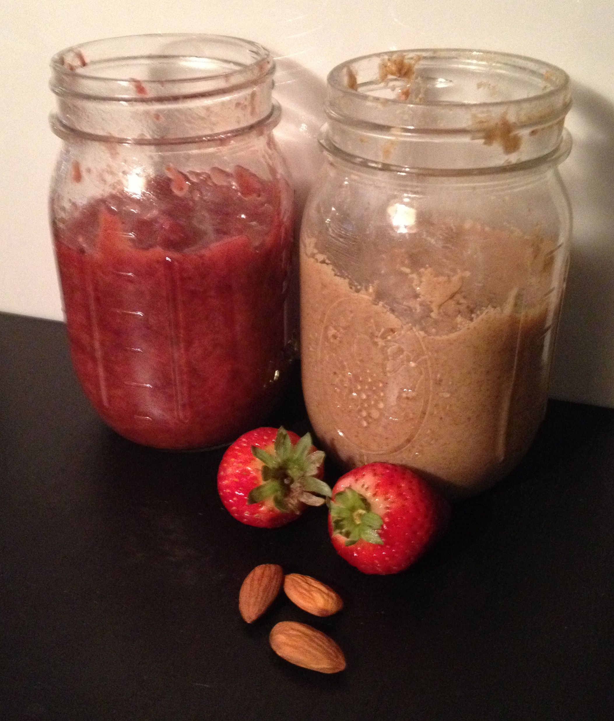 Almond Butter and Strawberry Jam
