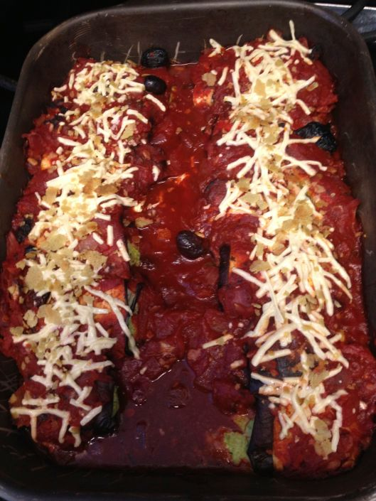 Vegan Eggplant Manicotti